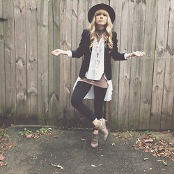 Mary Ellen Skye - Mattise Buckled Booties, The Sneerwell Necklace, Free People Top, Lululemon Leggings, Anthropologie Hat - It aint no thing