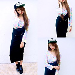 Princess T - Karl Alley Vogue, Vintage Floral Crop Top, Http://Www.Fashion4us.Com Platform Boots - Falling in Puppy Love