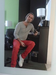Erick Balandran Beaven - Adidas Neo, Converse Red, Zara Grey Henley, Mom's Knitware - Ready for breakfast