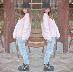 Nat @unmatchafrappe - Zara Cat Hat, H&M Candy Cotton Sweater, Zara Ripped Jeans Diy, New Look Buckle Ankle Boots - Buckle ankle boots