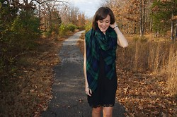 Niki Adams - Zara Scarf, Zara Dress - Mad for Plaid.