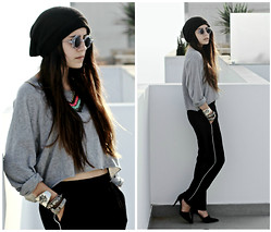 Lea K - Zara Pants, Zara Heels - Under the Shades