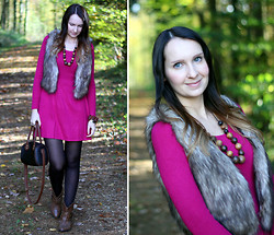 Sabrina K. - H&M Fake Fur Vest, H&M Pink Dress, Primark Bag - But somewhere we went wrong!