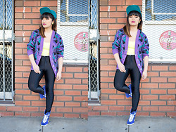 Ethel Manalo - American Apparel Disco Pants, Vintage Cardi - Mixed Business