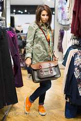 Caroline Paris - Leather Satchel Co., Zara Cam Shirt, Kangol Orange Shoes, New Look Skinny Jans - Camo, Orange and a Satchel