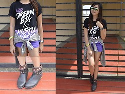 Danica Salazar - Tee Culture Statement, Thrifted Boots - Dream big and hustle hard
