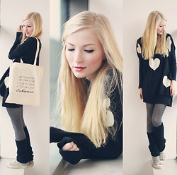 Joana ♡ - Axparis Sweater, H&M Tights, Lichtpoesie Bag - I want to inspire people