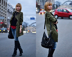 Anastasia U. - Chic Wish Parka, Chic Wish Top, Chic Wish Braceletes, Asos Knit Top - Catching Fire