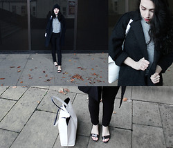 Annia _ - Pull & Bear Leather, H&M Slips, Sheinside Coat, Chanel Hat - Asphyxiate