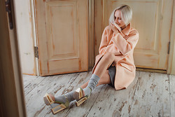Natalie Pirmann - My Design Coat, Asos Wedges - Marshmallow