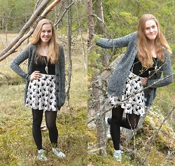 Annie Laurelle - H&M Bird Skirt - Old autumn look