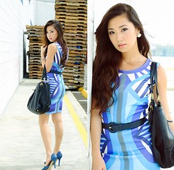 Kryz Uy - Omg Fashion Dress - Cool Day Hues
