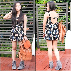 Glaiza Homez - Forever 21 Romper, Bershka Bag - AROUND SINGAPORE