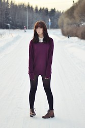 Riikka P - H&M Sweater, Monki Shirt, Dinsko Shoes - How long will i love you