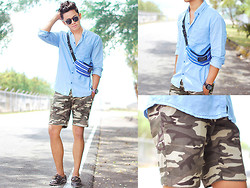 David Guison - Hang Ten Button Down, Skytop Camo Shorts, Flying Dutchman Boat Shoes - Summer in December