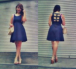 Sassy Cebuana - Fashionbar Skater Dress, Sm Accessories Cream Sling Bag, Sundance Annileth Mocca Wedge - Look 117: Sweet Skater Dress♥