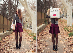 Emma Istvanffy - Infiniteen Shirt, H&M Dotted Skirt, Forever 21 Wedge Sneakers, Forever 21 Tote Bag - December Is Here