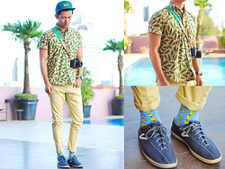 David Guison - Ams Clothing Button Down - Pine Trees