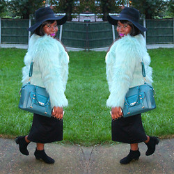 Samantha J - H&M Hat, Asos Bag, New Look Faux Fur Coat - Mint!