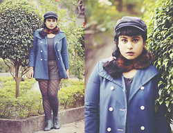 Ragini R - Vintage 60s Donkey Jacket, Brixton Fiddler Fisherman's Cap - A Day in the Life