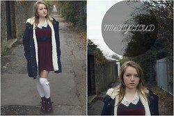 Izzy McLeod - Mango Lined Coat, Topshop Lace Collar, Hearts And Bows Lace Skirt, Atmosphere Combat Boots - A little bit Sweeter