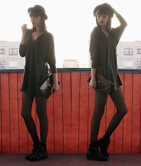 "Maria Joanna - Topshop Cut Out Boots, Amisu Tunic, Vintage Bag, H&M Hat - ""I'll be the center of your attention"""