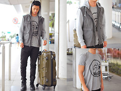 David Guison - Cheap Monday Shirt, Mendoza Luggage, Palladium Boots - Fly With Me