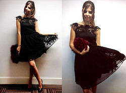 Reneta Kanevska - Asos Dress, Topshop Bag, Office Shoes - British Fashion Awards 2013