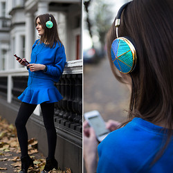 Anouska Proetta Brandon - Frends Headphones, Choies Two Piece, Marks And Spencer Boots - Frends x RM