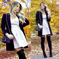Camilla S - Abercrombie & Fitch Dress, Chanel, Laltramoda Blazer - Autumn In Central Park
