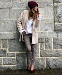 Rebel Attitude - Choies Coat, Zara Pants - Cream