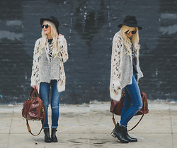 Kelli Murray Larson - Dittos Denim, Minkpink Sweater, Topshop Boots - Chasing Fall