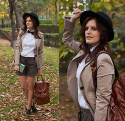 Viktoriya Sener - Mango Blazer, Zara Hat - ENGLISH BREAKFAST