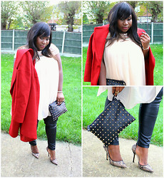 Samantha J - Zara Coat, Primark Studded Clutch - Feels like home..