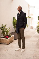 Roderick Hunt - Wings + Horns Westpoint Chino, Shoes Like Pottery Canvas Sneaker, Steven Alan Stuart Blazer - Steven Alan + Uniform Journal