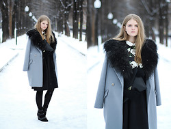 Margarita Lemeshko - Asos Mongolian Collar, Belucci Coat, Asos Skirt - Ode to Solitude