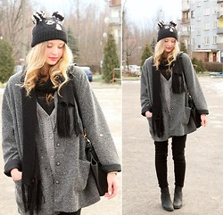 Martyna Lupa - Second Hand, Zara, H&M, Bershka - Lovely wamr hat