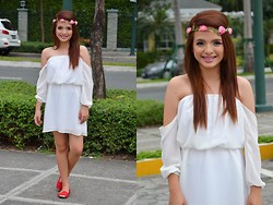 Shaira Izella Tan Loque - Thrifted Flower Crown, Cold Shoulder Dress, Solemate Flats - Make me your Aphrodite