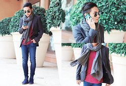 Miko Carreon - Topman Blazer, Cotton On Scarf, 7 For All Mankind Jeans, Yakpak Iphone Case - City of Dreams