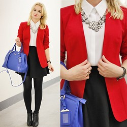 Daria Darenia - Happinessboutique Necklace, Oasap Skirt - Red and Blue