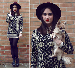 Rachael Dobbins ♡ - Sahar Baroque Jumper Dress, Missguided Alaga Fedora Hat, Enter My Giveaway - WIN THIS DRESS // on my blog