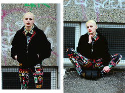 †Norelle Rheingold† - Pro Company Harrington Jacket, Lazy Oaf Mosh Pants Leggings, Underground The Wulfrun Triple Sole Black Suede/Leopard Print Creeper - This is England