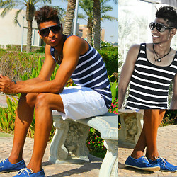 "Liliano Ventos - Ray Ban Shades, Zara Tank, Cheap Monday Shorts, H&M Loafers, 5 - ""Come live in my heart,and pay no rent <3"""