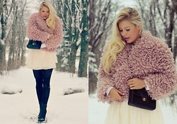 Julie W - H&M Jacket, Chanel Purse, Random Store Skirt, Alexander Wang Shoes - Winter wonderland