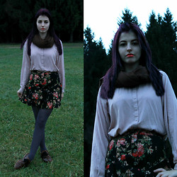 Eveline P - H&M Shirts, Forever 21 Skirt - Girl in the forest