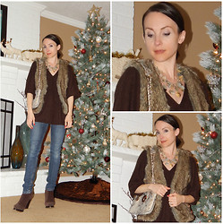 Pip A. - Forever 21, Bcbg, Dkny - Cashmere and Faux Fur
