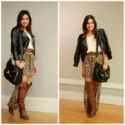 Massiel T. - H&M Leather Jacket, Call It Spring Purse, Forever 21 Blouse - New Blog! www.stylerceptor.net
