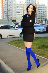 Kary Read♥ - Paolo Conte Heels - Black and blue