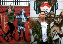 Phoenix Martinez - Dr. Martens Boots, H&M Green Beanie, Ben Sherman T Shirt - Fashion Graffiti