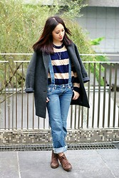 YUNA FANG - Uniqlo Coat - In the park